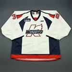 Ellis, Julien<br>White Set 1<br>Kalamazoo Wings 2009-10<br>#30 Size: 58G