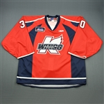 Ellis, Julien<br>Red Set 1<br>Kalamazoo Wings 2009-10<br>#30 Size: 58G