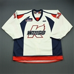 Featherstone, Devin<br>White Set 1<br>Kalamazoo Wings 2009-10<br>#17 Size: 56