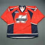 Featherstone, Devin<br>Red Set 1<br>Kalamazoo Wings 2009-10<br>#17 Size: 56