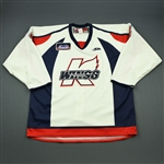 Friesen, Blake<br>White Set 1<br>Kalamazoo Wings 2009-10<br>#4 Size: 56