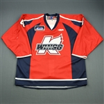 Friesen, Blake<br>Red Set 1<br>Kalamazoo Wings 2009-10<br>#4 Size: 56