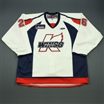Jones, Matt (M.)<br>White Set 1<br>Kalamazoo Wings 2009-10<br>#26 Size: 58