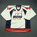 Kharin, Anton<br>White Set 1<br>Kalamazoo Wings 2009-10<br>#18 Size: 56