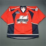 Kharin, Anton<br>Red Set 1<br>Kalamazoo Wings 2009-10<br>#18 Size: 56
