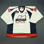 McGinnis, Ryan<br>White Set 1<br>Kalamazoo Wings 2009-10<br>#10 Size: 56