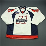 McGuirk, Brian<br>White Set 1<br>Kalamazoo Wings 2009-10<br>#28 Size: 58