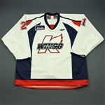Morrow, Tom<br>White Set 1<br>Kalamazoo Wings 2009-10<br>#21 Size: 58