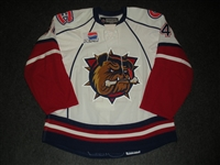 Aubin, Mathieu<br>White Set 1<br>Hamilton Bulldogs 2008-09<br>#41 Size: 54