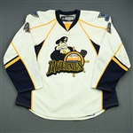 Lemtyugov, Nikolay<br>White Set 1<br>Peoria Rivermen 2008-09<br>#4 Size: 56