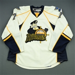 Wozniewski, Andy<br>White Set 1<br>Peoria Rivermen 2008-09<br>#7 Size: 58