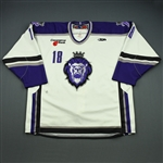 Doig, Tyler<br>White Set 1<br>Reading Royals 2008-09<br>#18 Size: 56