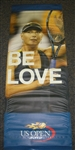 USTA US Open # Venus Williams & Maria Sharapova 2012 US Open -  It Must Be Love  Double-Sided Light Pole Banner 2012 Jersey Size 63x24 inches