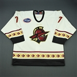 Jorgensen, Jim<br>White Set 1<br>Gwinnett Gladiators 2008-09<br>#7 Size: 52