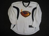 Reebok Edge<br>White Blue Practice Jersey<br>Atlanta Thrashers 2007-08<br>#N/A Size: 54
