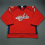 Mitera, Mark * <br>Red Kelly Cup Playoffs, worn April 19, 2013<br>Reading Royals 2012-13<br>#4 Size: XXXL