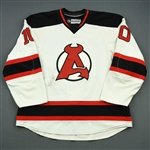 Josefson, Jacob<br>White<br>Albany Devils 2012-13<br>#10 Size: 56