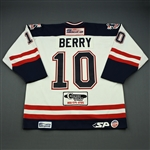 Berry, Mike<br>White Set 1<br>Mississippi Sea Wolves 2008-09<br>#10 Size: 54