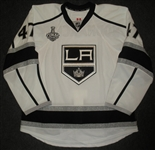 Bodnarchuk, Andrew<br>White  - Stanley Cup Final Set 1 - Game-Issued<br>Los Angeles Kings 2013-14<br>#47 Size: 56