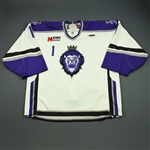 Engelage, Andrew<br>White Set 1<br>Reading Royals 2009-10<br>#1 Size: 58G
