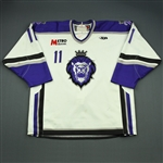 Morgan, Gavin<br>White Set 1 (C removed)<br>Reading Royals 2009-10<br>#11 Size: 54