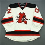 Murphy, Ryan (J.)<br>White Set 1<br>Lowell Devils 2008-09<br>#20 Size: 56