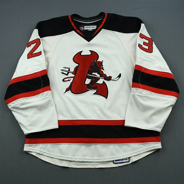 Swift, Michael<br>White Set 1<br>Lowell Devils 2008-09<br>#23 Size: 54