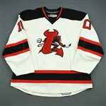 Vrana, Petr<br>White Set 1<br>Lowell Devils 2008-09<br>#10 Size: 56