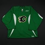 Reebok<br>Green Practice Jersey<br>Calgary Flames 2008-09<br>#NA Size: 54