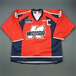 Ftorek, Sam * <br>Red w/C<br>Kalamazoo Wings 2009-10<br>#8 Size: 56