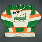 Brooks, Chris * <br>St. Patricks Day - Autographed<br>Kalamazoo Wings 2002-03<br>#9 Size: XL