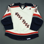 Jamtin, Andreas<br>White Set 1<br>Hartford Wolf Pack 2008-09<br>#50 Size: 56