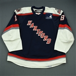 Rissmiller, Patrick<br>Navy Set 1 (A removed)<br>Hartford Wolf Pack 2008-09<br>#18 Size: 58+
