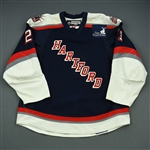 Sanguinetti, Bobby<br>Navy Set 1<br>Hartford Wolf Pack 2008-09<br>#21 Size: 56