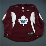 Reebok<br>Burgundy Practice Jersey<br>Toronto Maple Leafs 2009-10<br>#N/A Size: 56