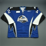 McGregor, Bryan<br>Blue Set 1<br>Idaho Steelheads 2008-09<br>#24 Size: 56