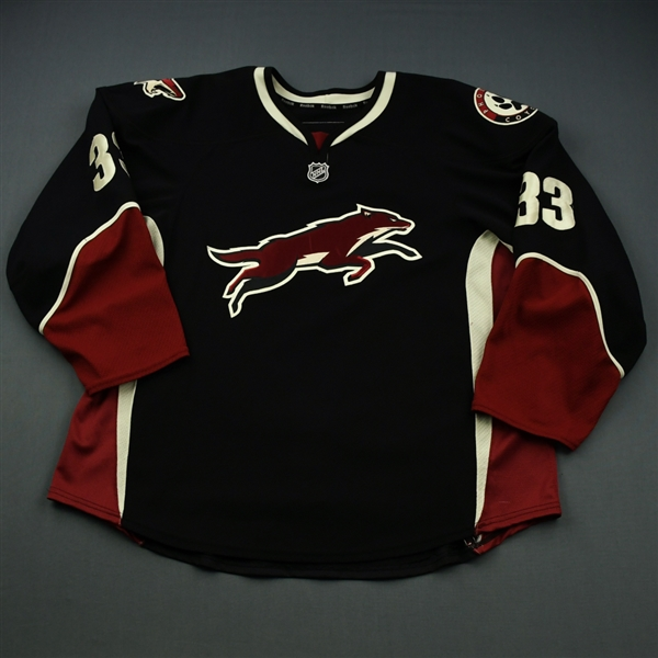 Aucoin, Adrian * <br>Black - Alternate<br>Phoenix Coyotes 2010-11<br>#33 Size: 58