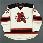 Murphy, Ryan (J.)<br>White Set 1 (A removed)<br>Lowell Devils 2007-08<br>#20 Size: 58