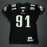 Rayburn, Sam<br>Black Alternate<br>Philadelphia Eagles 2006<br>#91 Size: 04-52 PBS