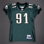 Rayburn, Sam<br>Green<br>Philadelphia Eagles 2006<br>#91 Size: 04-52 PBS