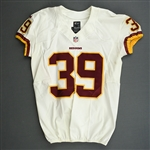 Amerson, David<br>White - worn December 29, 2013 vs. New York Giants<br>Washington Redskins 2013<br>#39 Size: 44 SKILL