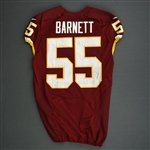 Barnett, Nick<br>Burgundy<br>Washington Redskins 2013<br>#55 Size: 44 L-BK
