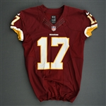 Bellamy, Josh<br>Burgundy<br>Washington Redskins 2013<br>#17 Size: 42 SKILL