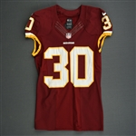 Biggers, E.J.<br>Burgundy<br>Washington Redskins 2013<br>#30 Size: 40 L-BK
