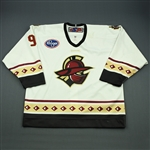 Bayrack, Mike<br>White Set 1<br>Gwinnett Gladiators 2009-10<br>#9 Size: 56