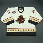 Johnson, Josh<br>White Set 1<br>Gwinnett Gladiators 2009-10<br>#34 Size: 58G