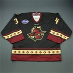 Johnson, Josh<br>Black Set 1<br>Gwinnett Gladiators 2009-10<br>#34 Size: 58G