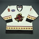 Lawrence, Jason<br>White Set 1<br>Gwinnett Gladiators 2009-10<br>#8 Size: 54