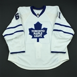 DiDomenico, Chris<br>White Set 1 - Game-Issued (GI)<br>Toronto Maple Leafs 2008-09<br>#61 Size: 56