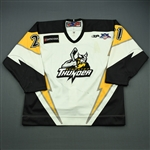 Bennefield, Jesse<br>White Set 1 (w/A removed)<br>Stockton Thunder 2007-08<br>#21 Size: 54
